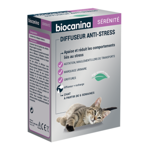 Diffuseur anti-stress + Recharge chat - BIOCANINA