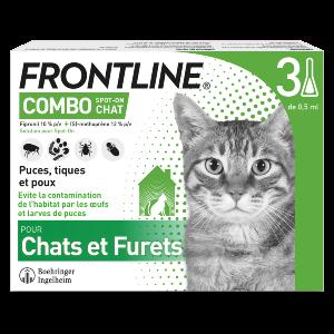 Frontline Combo - Chat - 3 pipettes - Produits-veto.com