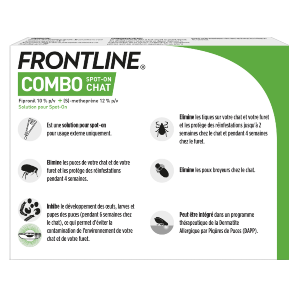 Frontline Combo - Chat - 3 pipettes - back - Produits-veto.com