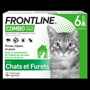 Frontline Combo - Chat - 6 pipettes - Produits-veto.com