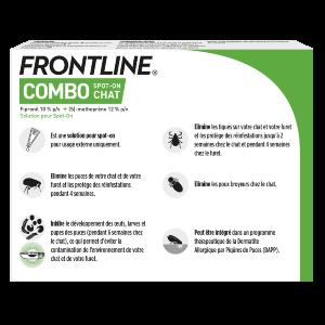 Frontline Combo - Chat - 6 pipettes - back - Produits-veto.com