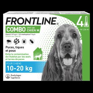 Frontline Combo - M - 4 pipettes - Produits-veto.com