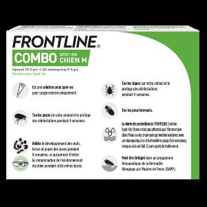 Frontline Combo - M - 6 pipettes - back - Produits-veto.com