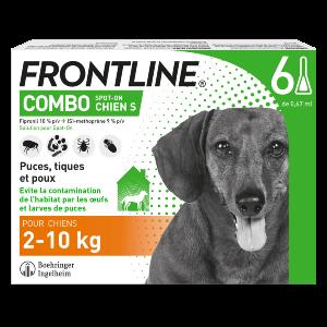 Frontline Combo - S - 6 pipettes - Produits-veto.com