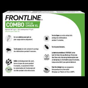 Frontline Combo - Chien - XL - 6 pipettes - back - Produits-veto.com