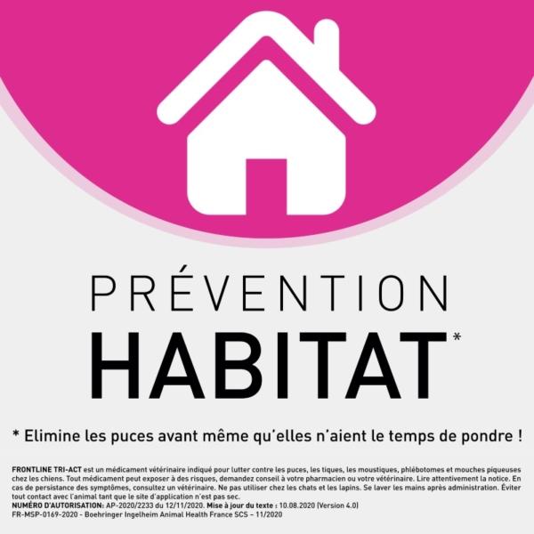 Frontline - Tri-Act - Prévention Habitat - Produits-veto.com