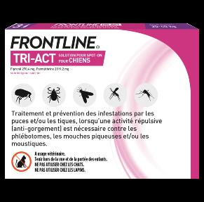 Frontline Tri-act - Chien L - 3 pipettes - back - Produits-veto