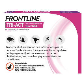 Frontline Tri-act - Chien L - 6 pipettes - back - Produits-veto