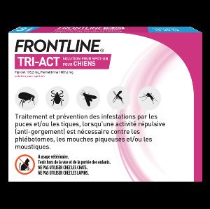 Frontline Tri-act - Chien M - 3 pipettes - back - Produits-veto