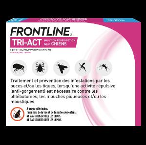 Frontline Tri-act - Chien M - 6 pipettes - back - Produits-veto
