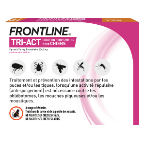 Frontline Tri-act - Chien S - 3 pipettes - back - Produits-veto