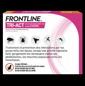 Frontline Tri-act - Chien S - 6 pipettes - back - Produits-veto