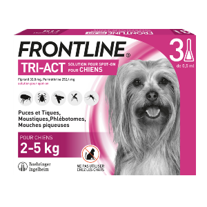 Frontline Tri-act - Chien XS - 3 pipettes - Produits-veto