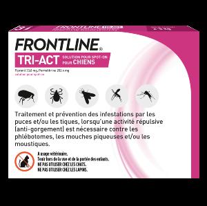 Frontline Tri-act - Chien XS - 3 pipettes - back - Produits-veto