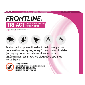 Frontline Tri-act - Chien XS - 6 pipettes - back - Produits-veto