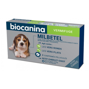Milbetel chiot - vermifuge spectre large -  BIOCANINA