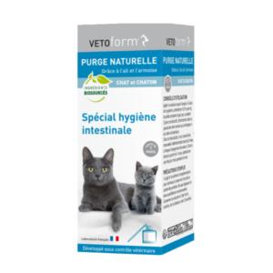 Vetoform - Purge naturelle - Spécial hygiène intestinale - Chat et chaton - pipette