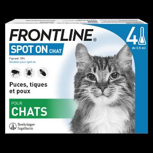 Frontline - SpotOn - Chat - 4 pipettes - Produits-veto.com