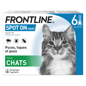 Frontline - SpotOn - Chat - 6 pipettes - Produits-veto.com