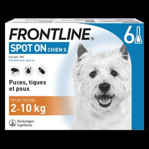 Frontline - SpotOn - Chien - S - 6 pipettes - Produits-veto.com