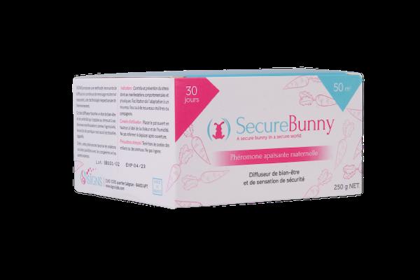 SecureBunny - Phéromone maternelle lapin - Signs - packaging - Produits-veto.com