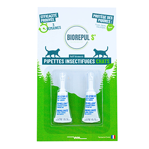 Pipettes insectifuges chats - BIOREPUL'S