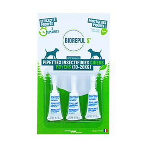 Pipettes insectifuges chiens - BIOREPUL'S